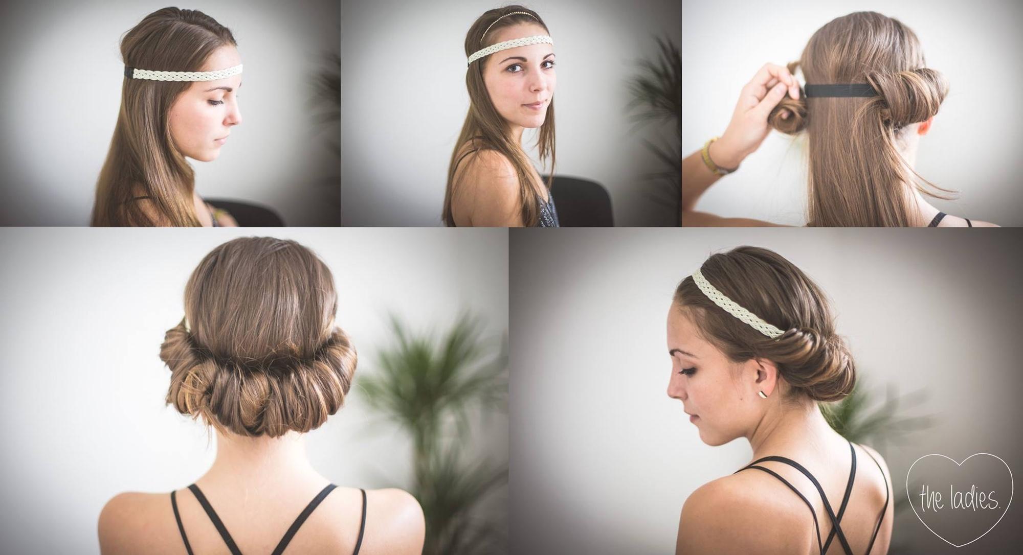 Frisur Haarband Eindrehen Haarschnitt Lange Haare