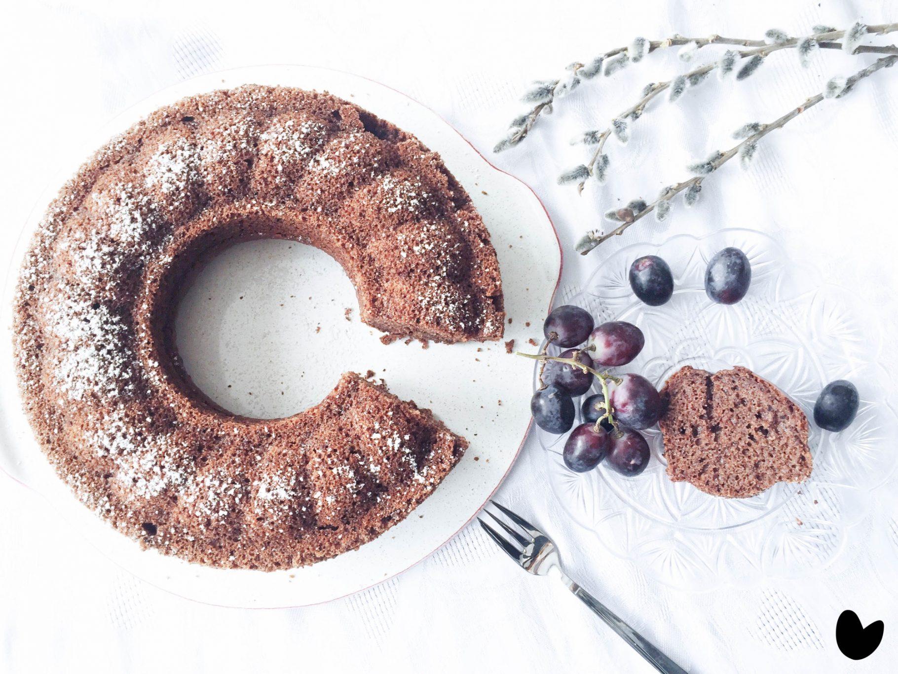 Becherkuchen mit Schokolade-Mohn-Geschmack