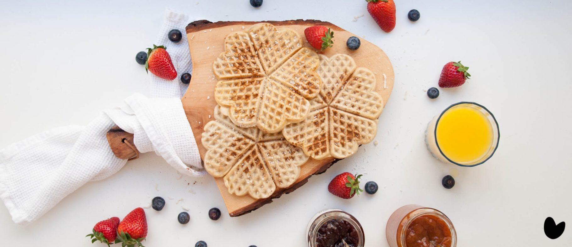 Einfache, vegane Waffeln | Frühstück 2.0