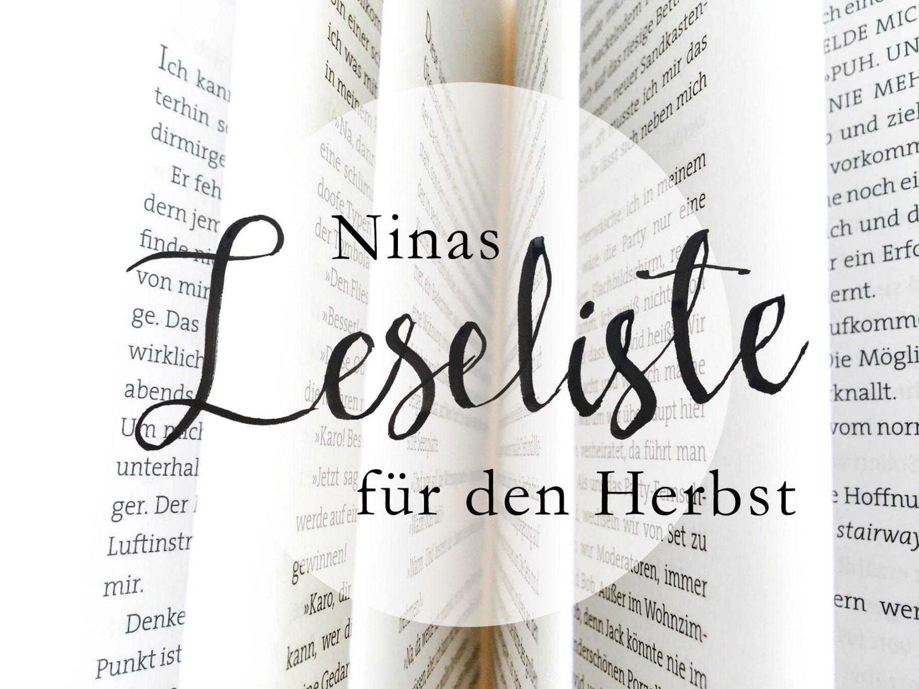 Leseliste für den Herbst | Nina