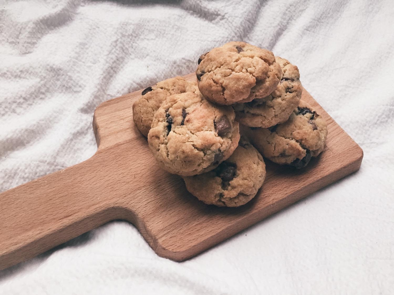 Himmlisch-sündig  <br> Vegan Chocolate Chip-Cookies