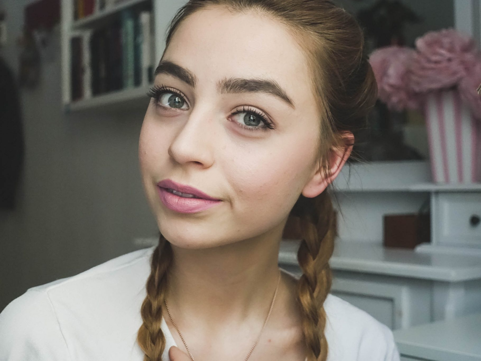 Inspired by Lena Hoschek: Boxerbraids and Pink Lips