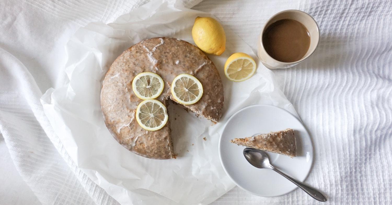Veganer Zitronen-Mohn-Kuchen