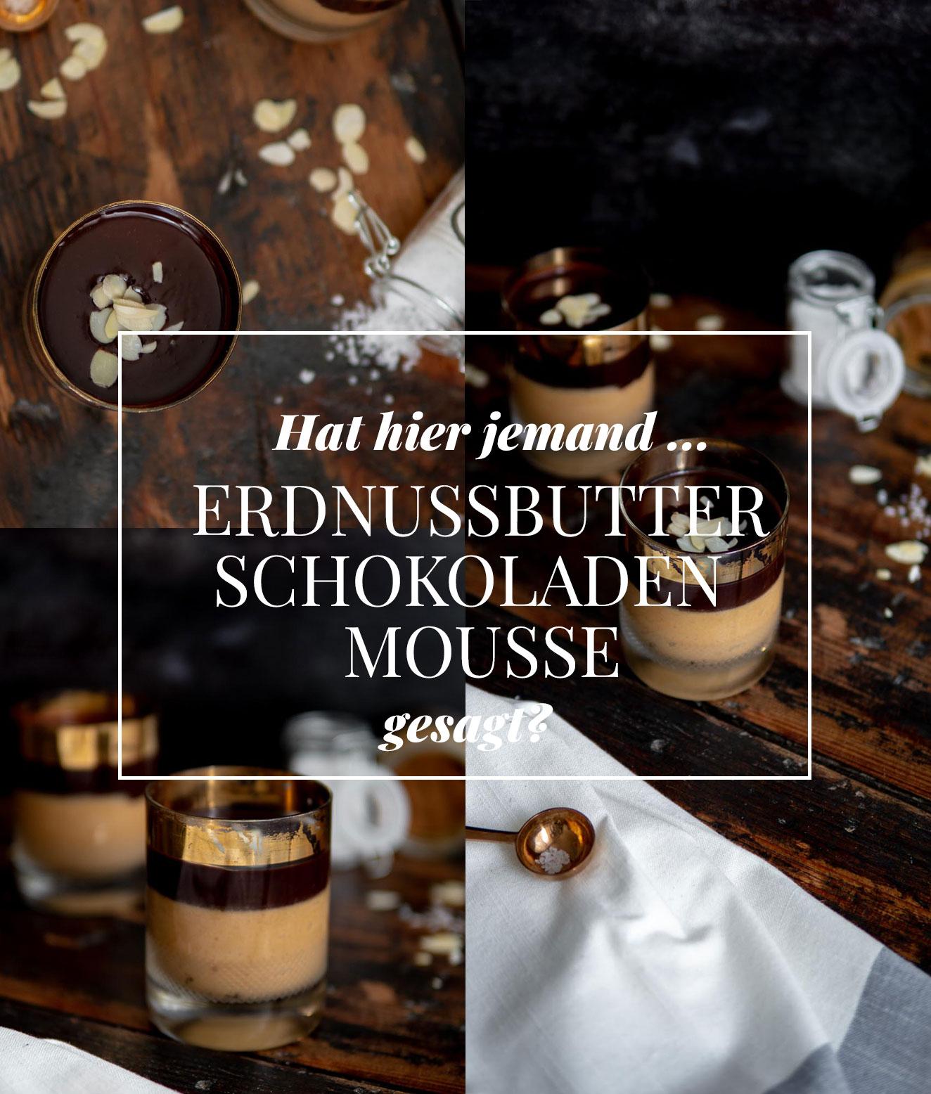 Veganes Erdnussbutter-Schokoladen Mousse